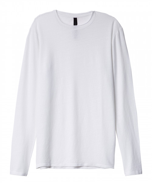 T-Shirt 1/1 Arm in Leinen in Schwarz und Weiß