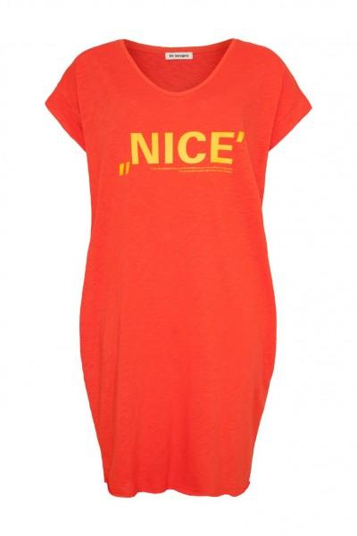 Jerseykleid mit NICE Aufdruck inkl. Armband in 2 Farben