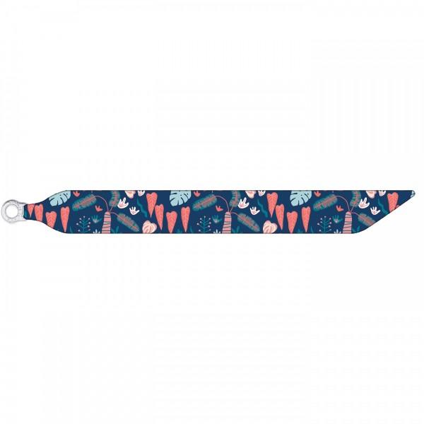 Seidenarmband mit einem versilberten Verschluss mit Muster TROPICAL FOREST