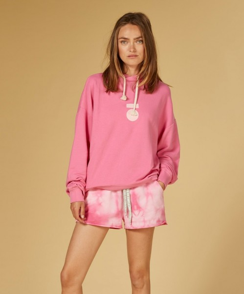 Hoodie Logo Oversize in Candy Pink