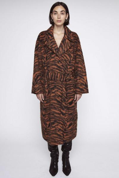 Mantel mit Gürtel Zebra