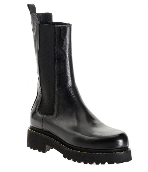 Combat Boot / Chelsea Boots NATALIE in Schwarz