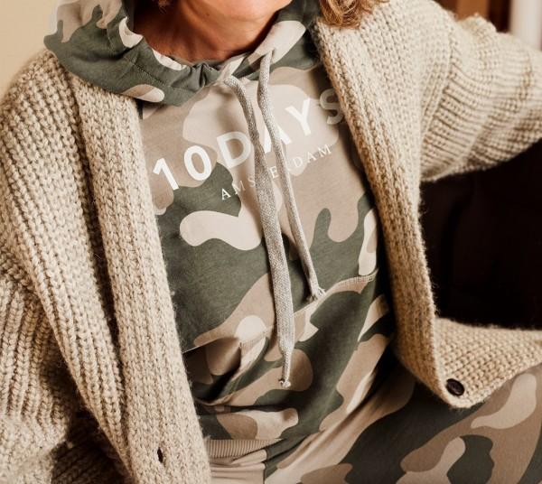 10Days Hoodie mit Logo Camouflage