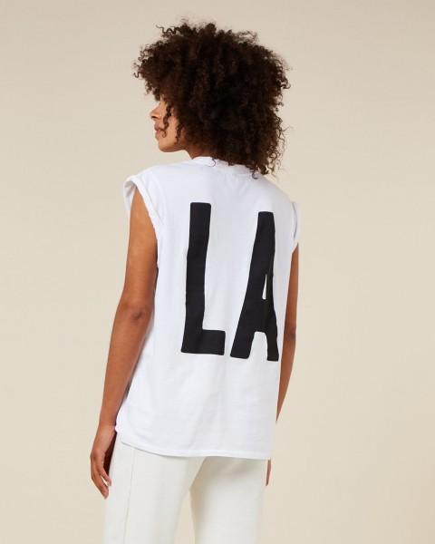 T-Shirt ohne Arm mit LA Rückenprint