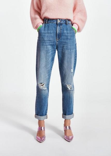 Jeans loose fit im used Look blue Denim