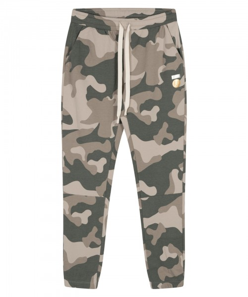 Jogginghose Cropped Jogger Camouflage in Grau-Grün
